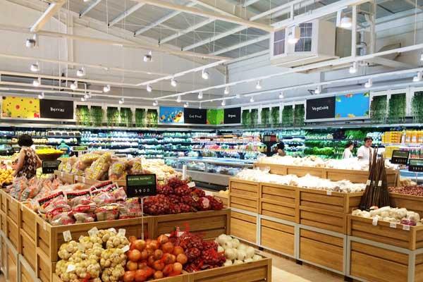 Illuminazione grande distribuzione e supermarket gdo food